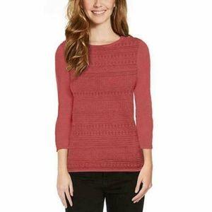 Womens Red BUFFALO DAVID BITTON 3/4 Sleeve Sweater